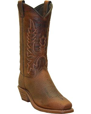 Abilene Boots Womens Distressed Western Boots - Square Toe