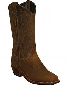 Abilene Boots Women's Lace Stitch Western Boots - Square Toe