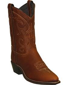Abilene Boots Women's Soft Textured Short Western Boots - Snip Toe