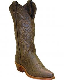 Abilene Boots Women's Vintage Nailhead Cowgirl Boots - Snip Toe