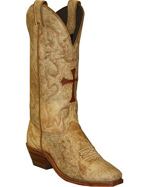 Abilene Boots Womens Western Cross Cowgirl Boots - Square Toe