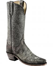 Lucchese Handcrafted Women's Black Lizard Cowgirl Boots - Sheplers Exclusive