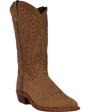 Abilene Boots Womens Lace Stitch Western Boots - Medium Toe