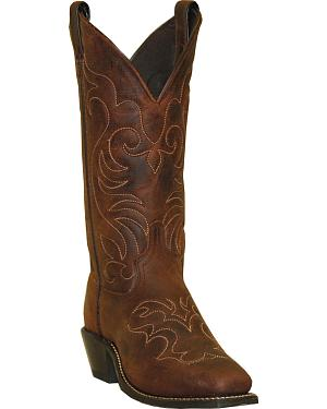 Abilene Boots Womens Embroidered Western Boots - Square Toe