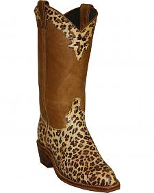 Abilene Boots Women's Cheetah Print Cowgirl Boots - Snip Toe