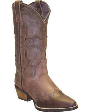 Rawhide by Abilene Boots Womens Cutout Wingtip Cowgirl Boots - Snip Toe