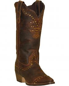 Rawhide by Abilene Boots Women's Nailhead Cap Toe Cowgirl Boots - Snip Toe