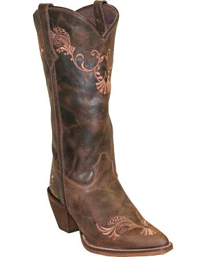 Rawhide by Abilene Boots Womens Embroidered Western Boots - Pointed Toe