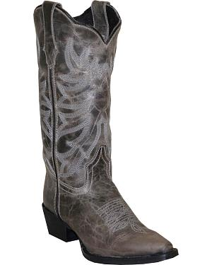 Rawhide by Abilene Boots Womens Scalloped Western Boots - Snip Toe