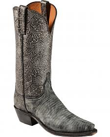 Lucchese Handcrafted Women's Lizard Embossed Cowgirl Boots - Sheplers Exclusive
