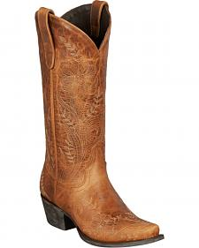 Lane Ashlee Lace Cowgirl Boots - Snip Toe