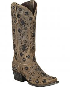 Lane Embroidered Cowgirl Boots - Snip Toe