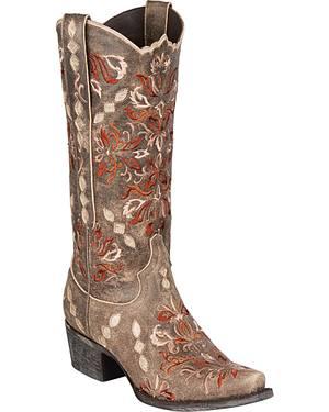Lane Kayla Cowgirl Boots - Snip Toe