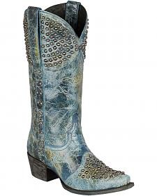 Lane Rock On Waxed Cowgirl Boots - Snip Toe