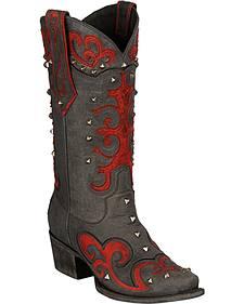 Lane Tahj Studded Cowgirl Boots - Snip Toe