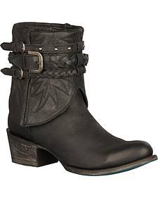 Lane Dove Short Harness Boots - Round Toe