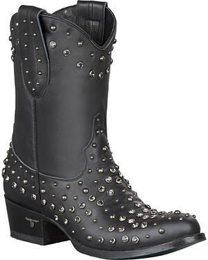 Lane Rock Studdie Short Boots - Round Toe