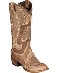 Lane Kara Cowgirl Boots - Round Toe
