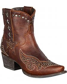 Lane Starry Night Short Studded Boots - Snip Toe
