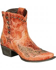 Lane Starry Night Shortie Cowgirl Boots - Snip Toe