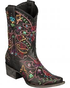 Lane Gypsy Embroidered Short Boots - Snip Toe