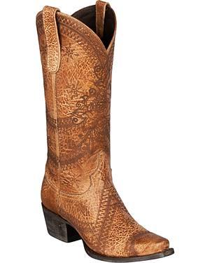 Lane Tessa Cowgirl Boots - Snip Toe
