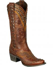 Lane Golden Eagle Cowgirl Boots - Snip Toe