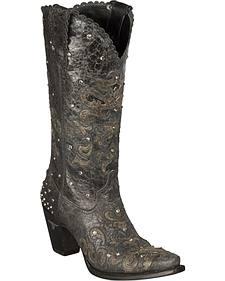 Lane Tiffany Lux Tall Heel Cowgirl Boots - Snip Toe
