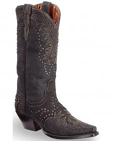 Dan Post Women's Invy Black Cowgirl Boots - Snip Toe