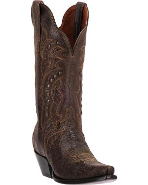 Dan Post Carisma Studded Shaft Cowgirl Boots - Snip Toe