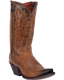 Dan Post Trish Outer Zipper Cowgirl Boots - Snip Toe