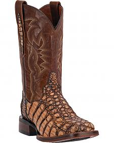 Dan Post Everglades Caiman Cowgirl Boots - Square Toe