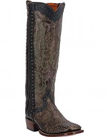 Dan Post Simone Studded Zipper Cowgirl Boots - Square Toe