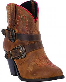 Dingo Bridget Women's Double Buckle Boots - Round Toe