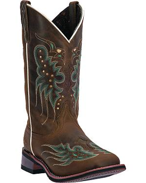 Laredo Womens Sadie Cowgirl Boots - Square Toe