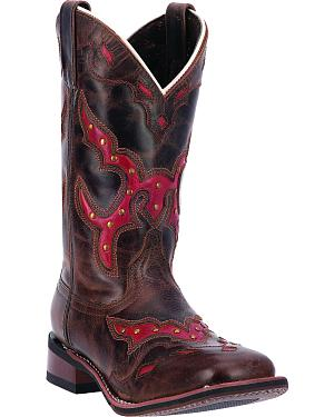 Laredo Womens Paprika Cowgirl Boots - Square Toe