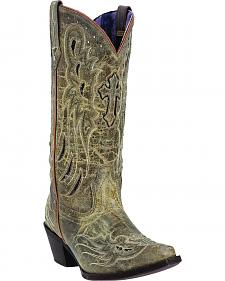 Laredo Women's Crosswing Studded Cowgirl Boots - Snip Toe