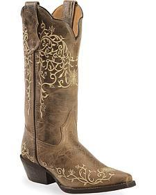 Laredo Jasmine Cowgirl Boots - Snip Toe