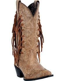 Laredo Tygress Fringe Cowgirl Boots - Snip Toe