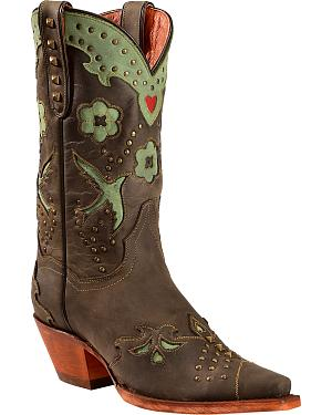 Dan Post Wild Bird Cowgirl Boots - Snip Toe