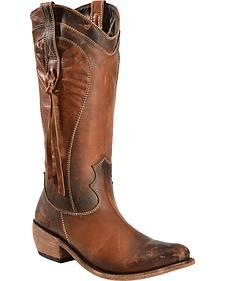 Liberty Black Women's Redneck Revival Delano Cotto Western Boots - Round Toe