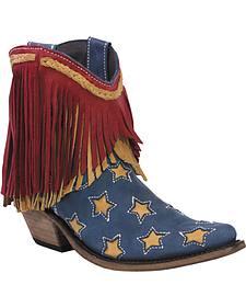 Liberty Black Women's Americana Vegas Russian Blue Stars Boots - Snip Toe