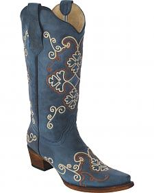 Circle G Women's Embroidered Cowgirl Boots - Snip Toe