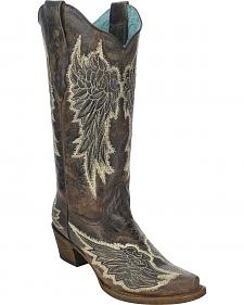 Corral Women's Angel Wings Cowgirl Boots - Snip Toe
