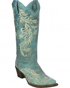 Corral Women's Embroidered Cowgirl Boots - Snip Toe