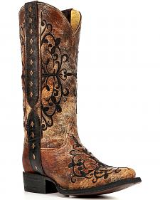 Corral Women's Studded Strap Cowgirl Boots - Square Toe