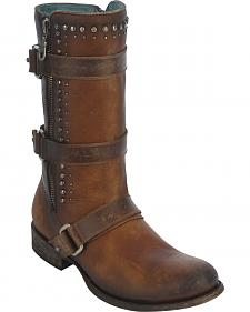Corral Women's Studded Harness Strap Boots