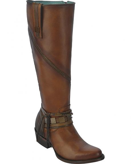 Corral Women's Tall Zip Riding Boots - Round Toe