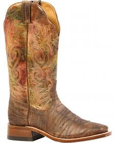Boulet Rio Brown Nomada Multi-Tone Cowgirl Boots - Square Toe
