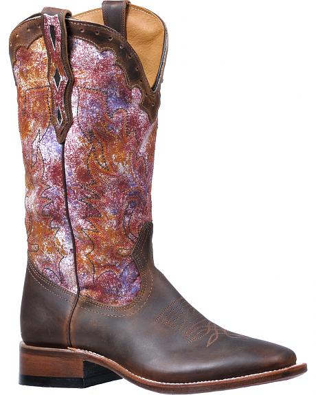 Boulet Grizzly Habana Kinder Multicolor Cowgirl Boots - Square Toe